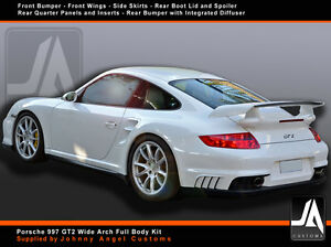 porsche 997 gt2 wide arch full body kit ebay. Black Bedroom Furniture Sets. Home Design Ideas
