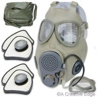 Czech Military M10m Nbc Gas Mask W/2 Filters, Drinking Tube, Bag - & Sealed