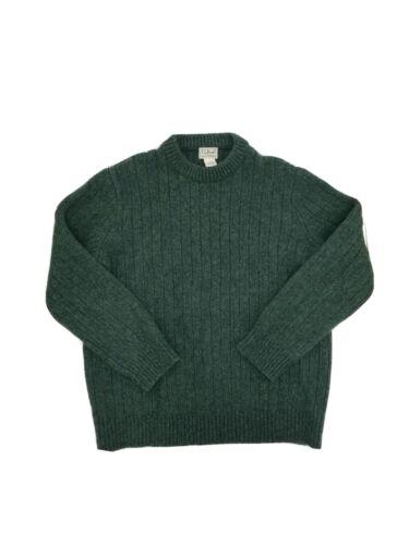 LL Bean Men's Green Lambs Wool Sweater