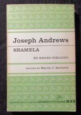 1961 JOSEPH ANDREWS SHAMELA by Henry Fielding VG/FN 5.0 Riverside  Ed B53