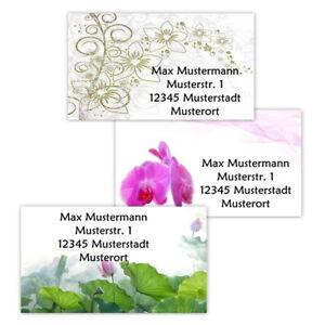 40-Adressetiketten-Adressaufkleber-oder-10-Visitenkarten-Motiv-034-Flower-034