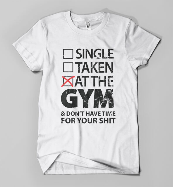 At The Gym T-shirt | Funny Parody Workout Tee | Mens Girls Muscle Printed Top