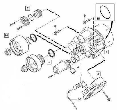 Ford Kuga AWD DEM Filter Kit 9V4N4A319AA 1673828 for Gen 4 Haldex 4wd