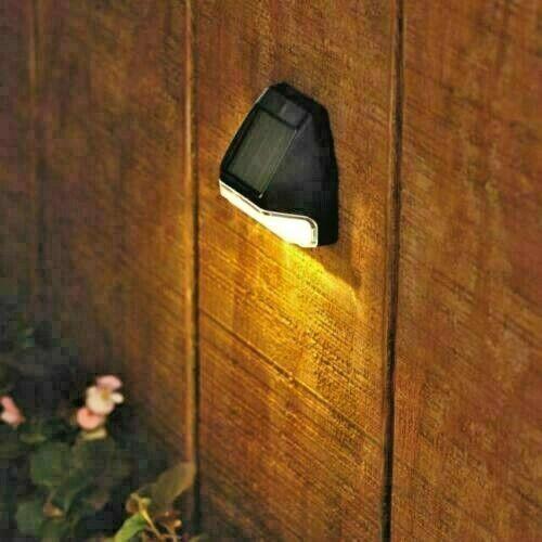 Mainstays Solar Ed Led Deck Fence Light 3 Lumens Garden Stair Step Lighting