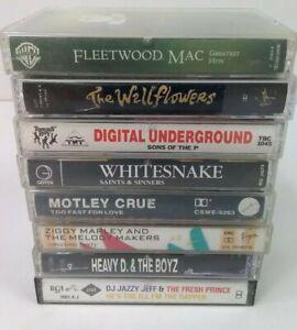 Rock N Roll & HipHop 8 Cassette Tape Bundle 80's Music 🎸