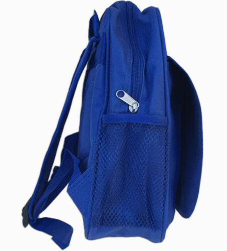 Personalised Kids Blue Backpack Any Name Sonic Boys Childrens School Bag Gift 1