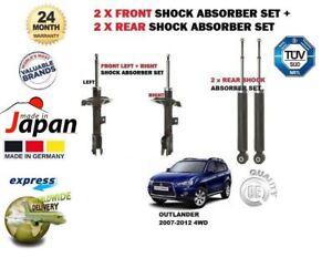 Para-Mitsubishi-Outlander-2007-2012-2x-Frontal-2x-Amortiguador-Trasero-Shocker-Set