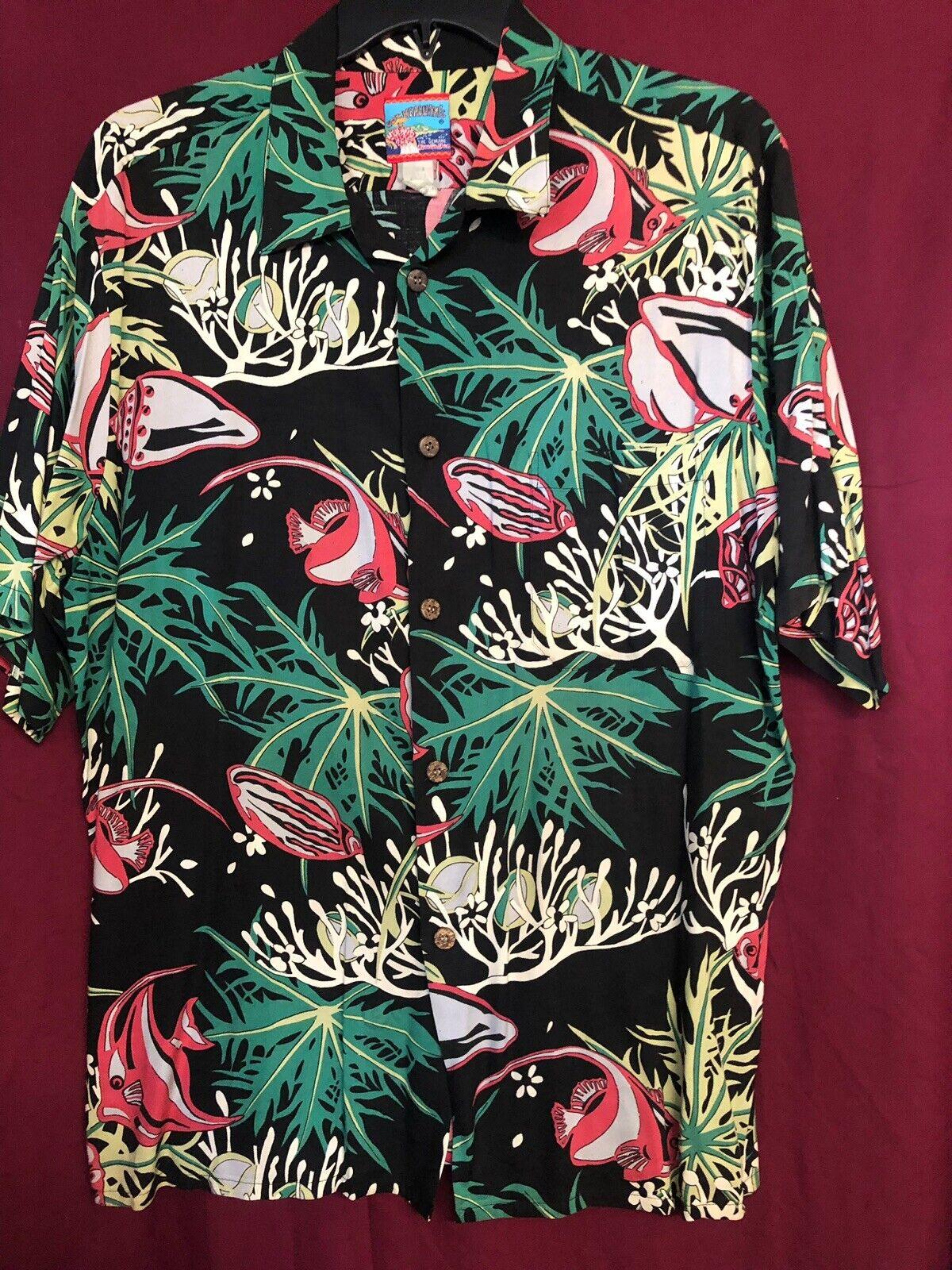 J.Kealoha Aloha Hawaiian Shirt Rayon sz.L - image 1