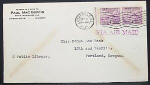 US-Airmail-Cover-Libertyville-Washington-Stamp-1935-USA-Airmail-Letter-H-10891