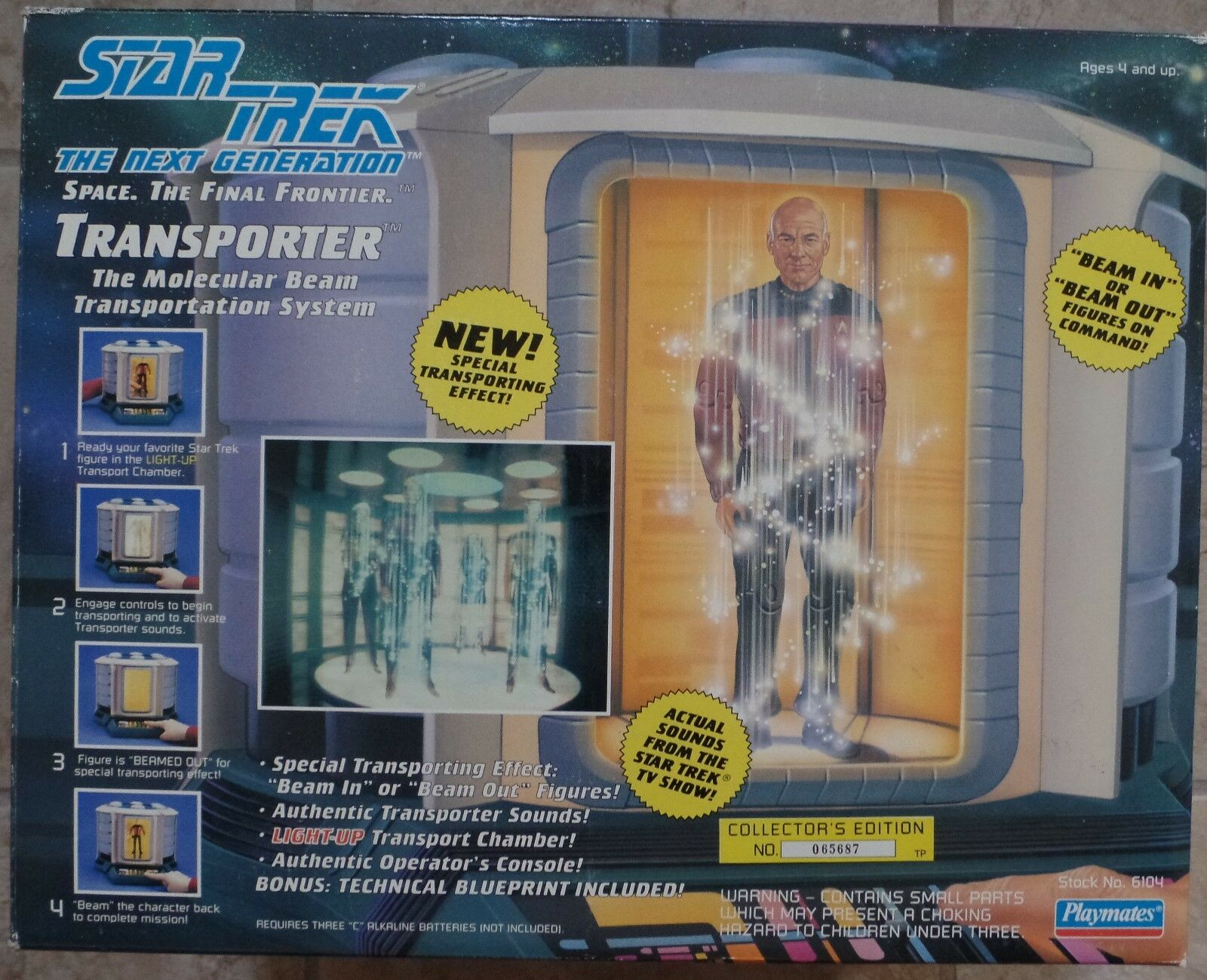 Playmates  estrella Trek The Next Generation Transporter Set 1993  disponibile