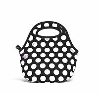 Built Neoprene Gourmet Getaway Mini Lunch Tote, Big Dot, Black And White , New, on sale