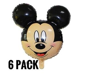 6-Mickey-Mouse-Head-Party-Foil-Air-Fill-Balloons-Party-Favors-Decoration