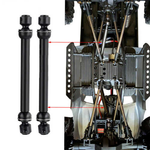 2PCS Metal Universal Drive Shafts for 1//10 Axial SCX10 4WD D90 RC Crawler Car