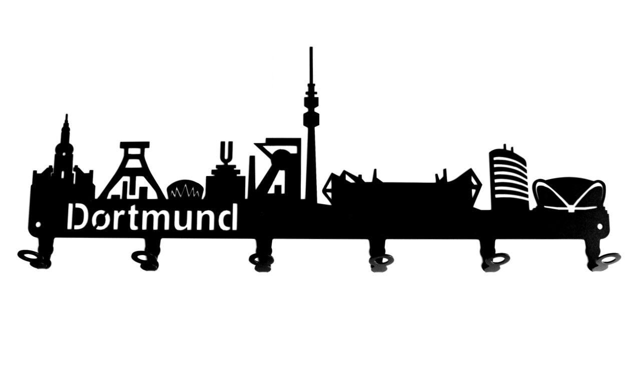Wandgarderobe - Skyline Dortmund - Flurgarderobe, Flurgarderobe, Flurgarderobe, Nordrhein-Westfalen Garderobe | Elegant  2da4d4