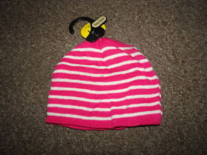Image is loading CHILDRENS-GIRLS-KIDS-LADIES-PINK-STRIPE-BEANIE-WOOLY- 649e95ddafd