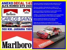 ANEXO DECAL 1/43 ALFA ROMEO GTV CARLOS SAINZ 500 KM. JARAMA 1985 (05)