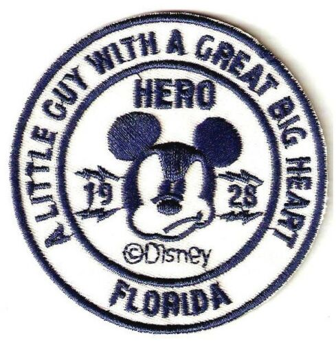 """3/"""" Mickey Mouse IRON ON SEW ON PATCH Little Guy Great Big Heart Smug Expression"""