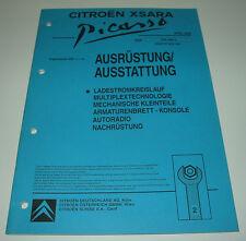 Werkstatthandbuch Citroen Xsara Picasso Ladestrom Radio Konsole Multiplex 2000!