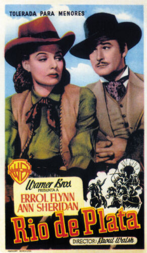 Silver River Errol Flynn Cult Western movie poster print 1948