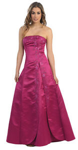 Details about SALE !! NEW STRAPLESS BRIDESMAID DRESS UNDER $100 FORMAL  CRUISE GOWN & PLUS SIZE