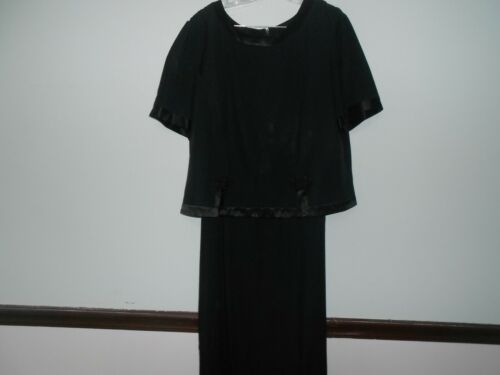 Womens  Black Dress Size 18 Career Funeral