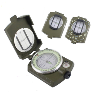Outdoor Survival Compass Multifunctional Military Map Sighting Lensatic Compass