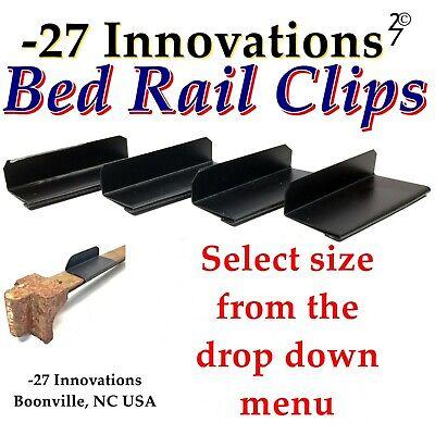 4 CLIPS Antique Flat Top Rail Iron Bed-Modern Box Spring//Mattress Conversion Kit