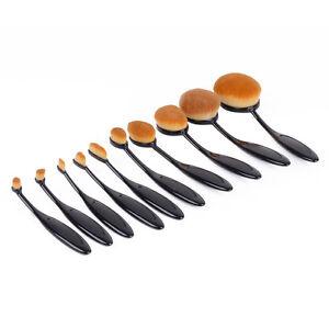10PC-Set-Toothbrush-Eyebrow-Foundation-Eyeliner-Oval-Cream-Puff-Makeup-Brushes