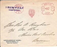 Netherlands Indies Meter Stamp Cover NHM Medan 1934 (2)