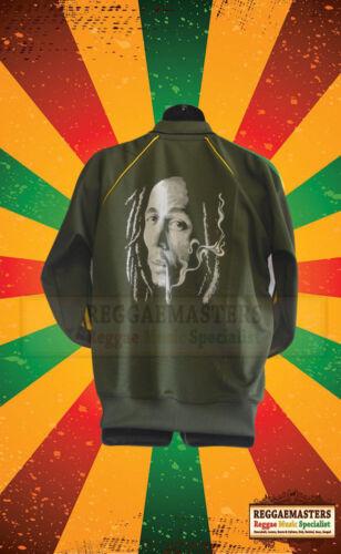 Bob Marley Tuta Da Ginnastica Top Verde Kaki Fumare Spliff//LEONE DI GIUDA motivo Reggae