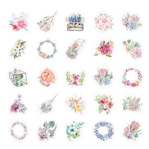 46pcs-cute-flower-series-paper-sticker-diy-diary-decor-for-album-scrapbooking-R