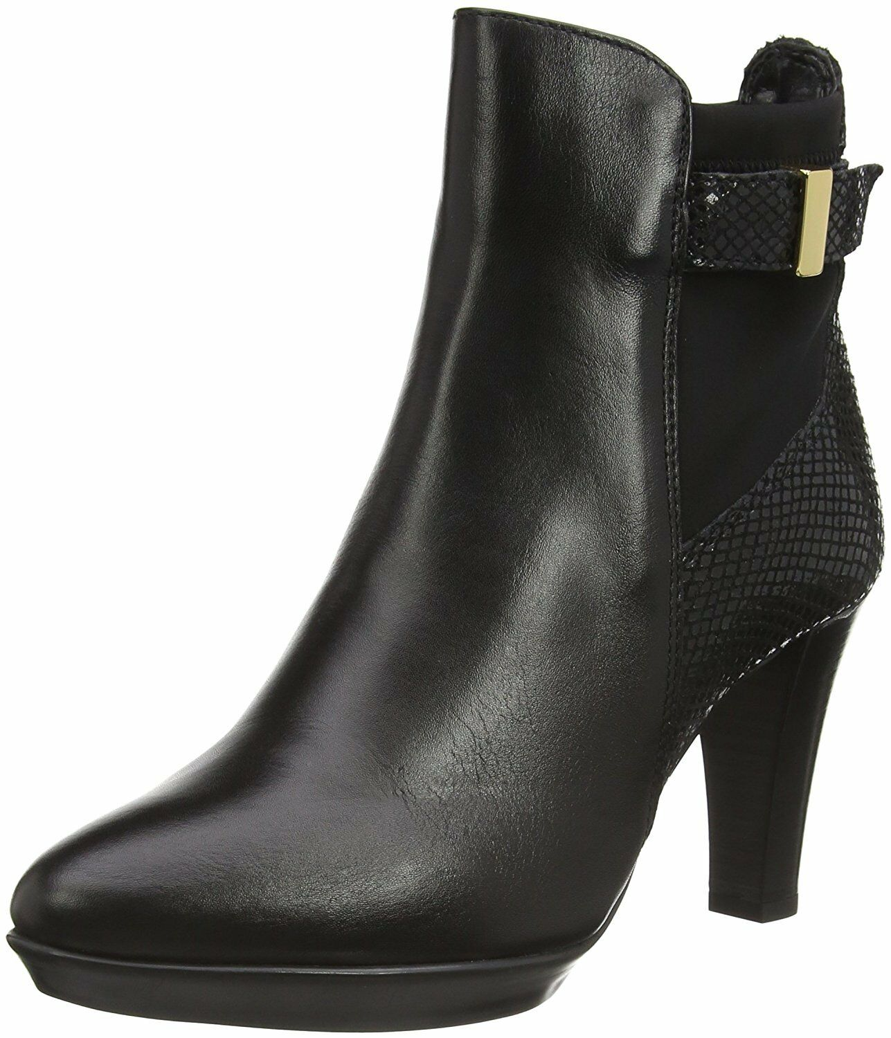 Grandes zapatos con descuento 130 NEW CARVELA SIZE 7 8 BLACK REAL LEATHER RAE HIGH HEEL COMFORT ANKLE BOOTS
