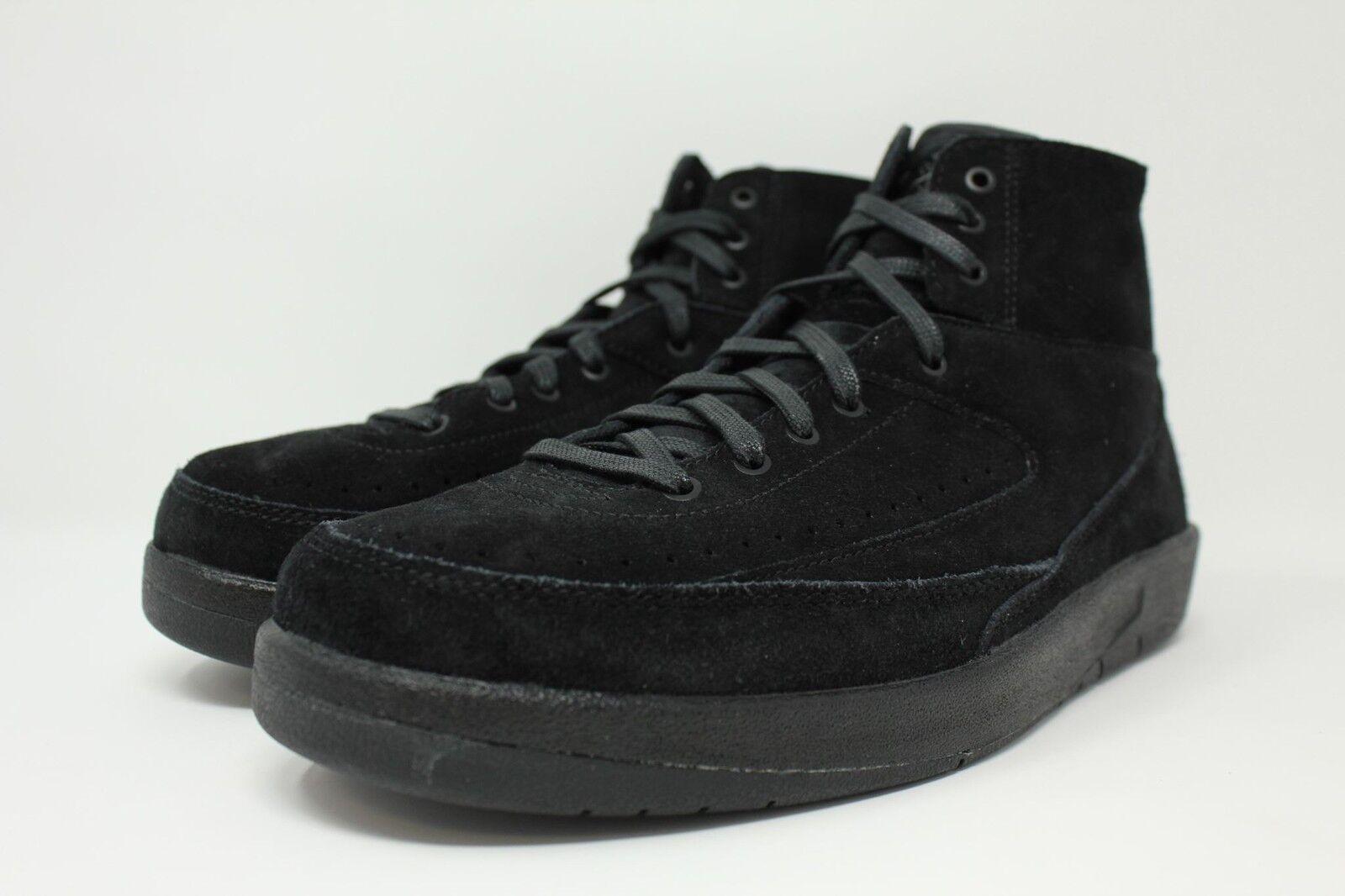 Air Jordan 2 Retro Decon Black Suede Men SZ 7.5 - 13