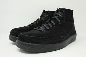 3749739af75158 Air Jordan 2 Retro Decon   897521 010 Black Suede Men SZ 7.5 - 13