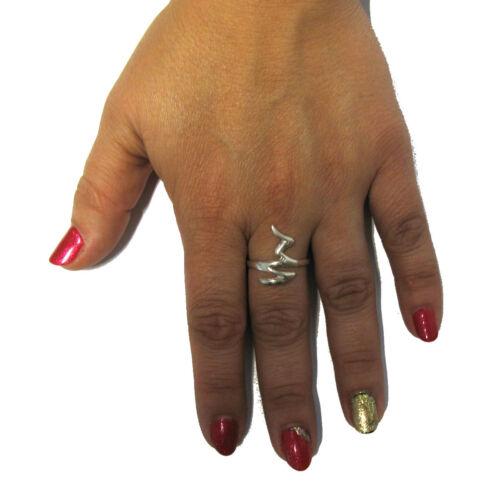 Luz con estilo anillo de plata esterlina sólida 925 Nuevo Tamaño G-V r001281 Emperatriz