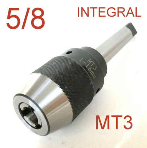 "1 pc Keyless 1//32/""-5//8/"" Drill Chuck Integral Integrated 3MT MT3 Shank for CNC"