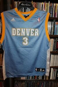 wholesale dealer 22cd7 c610d Denver Nuggets Iverson Adidas basketball jersey Youth sz L ...