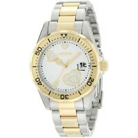 Invicta 12287 Women's Pro Diver Silver Heart Dial Two Tone Stainless Steel Watch