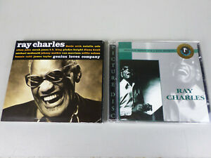 Lot-of-2-Ray-Charles-CDs-Genius-Loves-Company-Members-Edition