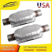 2pcs 25 Universal Catalytic Converter 83166 For Chevy Silverado 1500 Gmc Ford