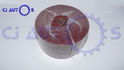 FIBRE ANGLE GRINDER GRINDING P36 SANDING DISC 25 PACK ALU OX FIBER SAND 115mm