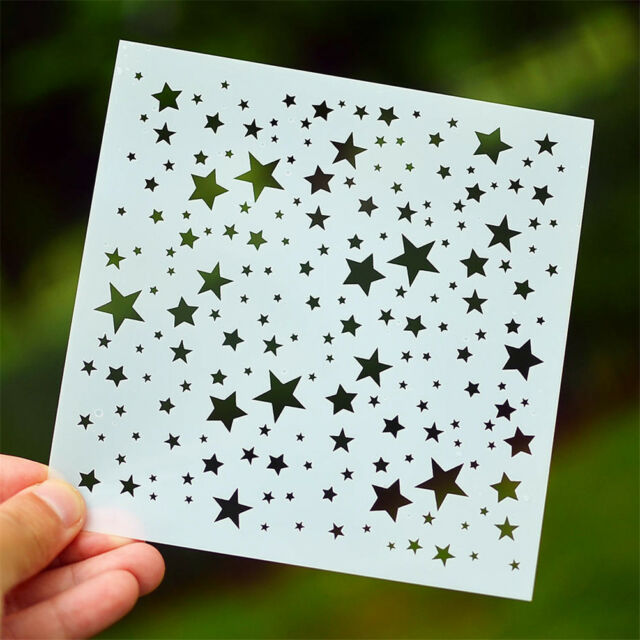 star layering stencils diy scrapbooking album masking painting template tool _CA