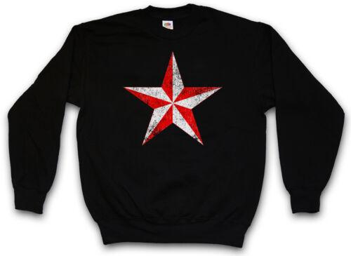 Aeronautical star sweatshirt étoile tatouage old school rockabilly star sweat pull