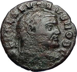 SEVERUS-II-305AD-Rare-Quarter-Follis-Authentic-Ancient-Roman-Coin-GENIUS-i67370