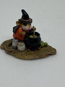 Wee-Forest-Folk-Something-s-Brewing-Halloween-orange-Donna-Peterson-1996