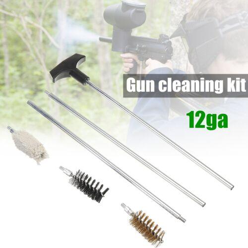 12ga Gun Cleaning Kit 5mm Mop Rod Tube Brusher For Pistol Rifle Shotgun Rifle