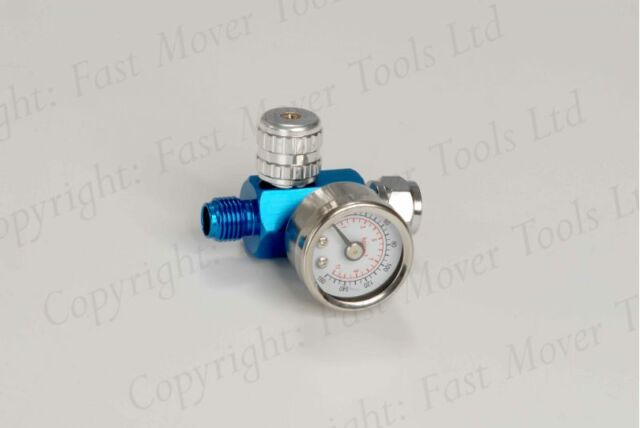 "Spray Gun Extra Small Air Regulator Gauge Paint Adjustable Dial 1/4"" HVLP Tools"