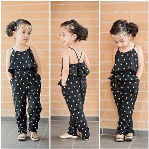 113de0817679 Details about US Hot Kid Girls Love Heart Strap Rompers Playsuit Jumpsuits  Pants Clothes 2-7Y