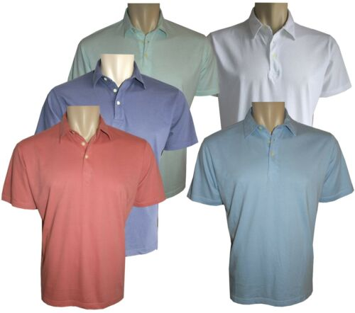 Mens 100/%Cotton Jersey Polo T-shirts Casual Soft Custom Fit Collared ButtonM-2XL