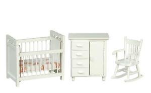 Casa-de-Munecas-Blanco-Guarderia-Muebles-Juego-Miniatura-3-Pieza-Bebe-Room-1-12